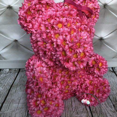 pink daisy bear