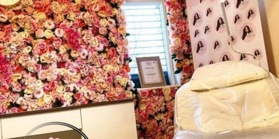 pink ivory and red flower wall for Flower Wall Design and Purchase